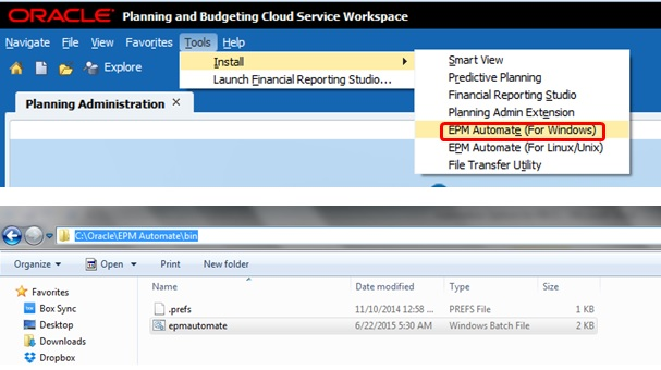 Using EPM Automate and File Transfer Utility - EPMCopy exe