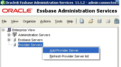 Add Provider Services Server in EAS