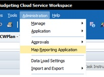 01 Oracle PBCS Map Reporting Application