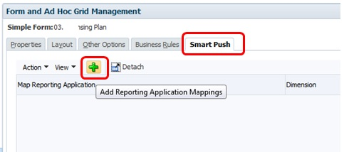 05 Oracle PBCS Enable Smart Push on Form