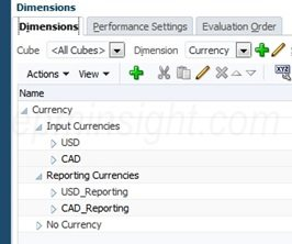 12 EPBCS Currency Dimension